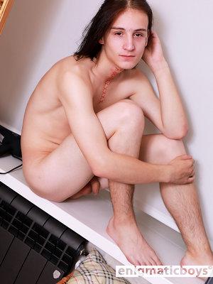 Sexy boy Rito in a sauna
