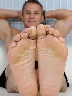 Alec's Size 11 Bare Feet & Socks
