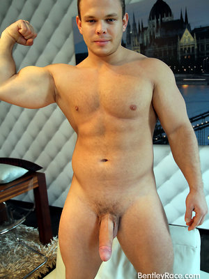 Hung Muscle Cub - Dennis Conerman stripped down for Ben