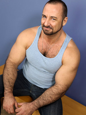 Rocky LaBarre shows his muscled hairy butt