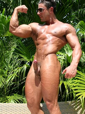 Ten Naked Muscle Hunks Sweating Flexing and Cumming
