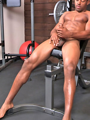 Well hung black dude Markus strokes dick