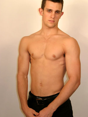 Hot college stud plays with his schlong