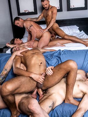 Max Arion's Bareback Double-penetration Orgy