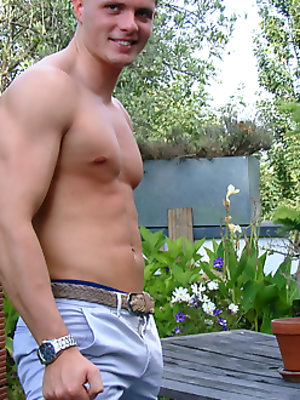 Young Straight & Muscular Stud Logan