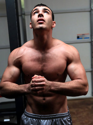 Hot muscled boy Otto shows his rod