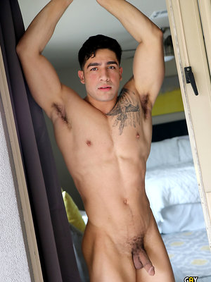 Super Fit Hung Cock Diego Cruz Jerks Off