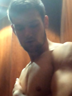 Young & Horny Lad Joel has a Risky Wank at the Gym