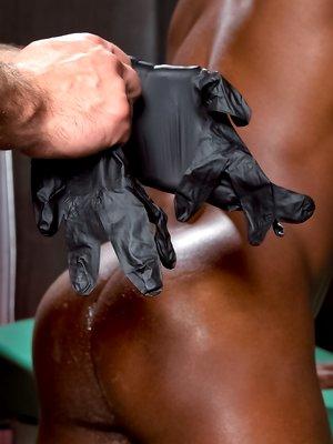 Dirk Caber fists Race Cooper's black ass