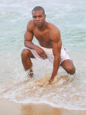 Jaden shows his sexy ebony body