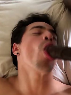 Levi Karter is Seduced and fucked HARD by Max Konnor and his HUGE black cock