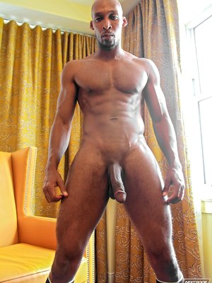 Ramsees - well hung black dude strokes his cock